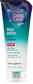 Clean & Clear Deep Action Cream Cleanser 6.5 oz.