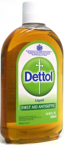 Dettol First Aid Antiseptic Liquid 16.9 oz (500 ml)