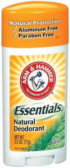 Arm & Natural Essentials Natural Deodorant Solid Fresh 2.5 oz.