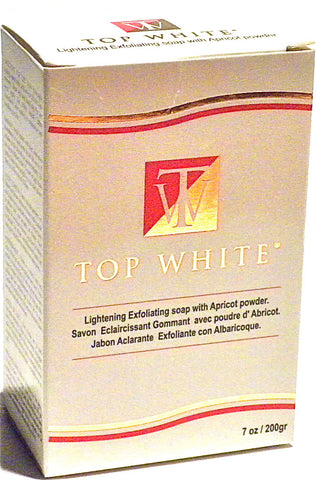 Top White Lightening Exfoliating Soap With Apricot Powder 7 oz.