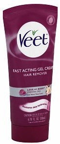 Veet Fast Acting Cream Gel Hair Remover Legs and Body 6.78 oz.