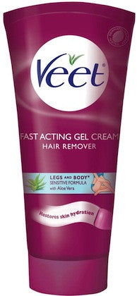 Veet Fast Acting Gel Cream Legs and Body Sensitive Formula 6.78 oz.