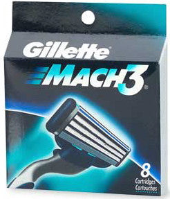 Gillette Mach 3 Refills 8 Cartridges