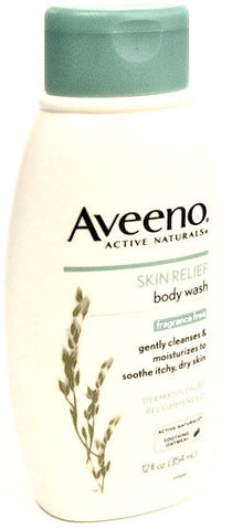 Aveeno Active Naturals Skin Relief Body Wash Fragrance Free 12 oz.