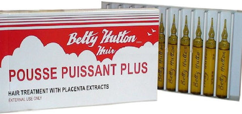Betty Hutton Hair Treatment with Placenta Extracts 0.33 oz. 10 Ampoules per Box