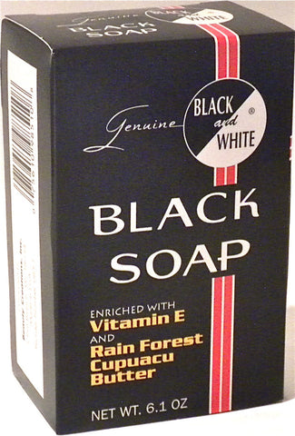 Black and White Black Soap 6.1 oz.
