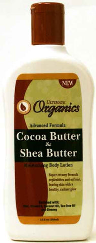 Ultimate Organics Cocoa Butter & Shea Butter Body Lotion 12 Fl. Oz. (354 ml)