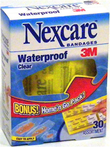 Nexcare Bandages 3M Waterproof Clear Assortment 30 ea.