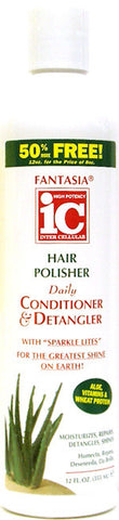 Fantasia IC Hair Polisher Daily Conditioner & Detangler Bonus Size 12 Fl. Oz. (355 ml)