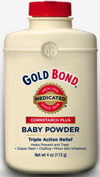 Gold Bond Medicated Cornstarch Plus Baby Powder 4 oz.