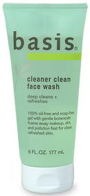 Basis Cleaner Clean Face Wash 6 Fl. Oz. (177 ml)