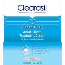 Clearasil Daily Clear Acne Treatment Cream Tinted Net Wt. 1 Oz. (28 g)