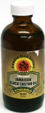 Tropic Isle Living Jamaican Black Castor Oil 4 Oz.