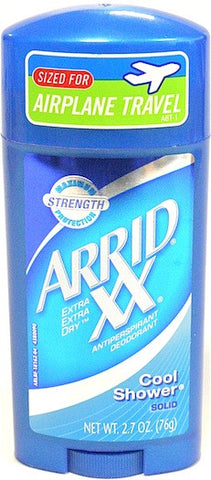 Arrid XX Solid Antiperspirant Deodorant Cool Shower 2.7 oz.