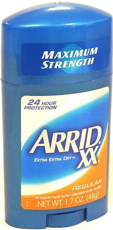 Arrid XX Solid Antiperspirant Deodorant Regular 1.7 oz.
