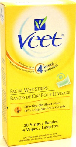Veet Facial Wax Strips, 20 Strips