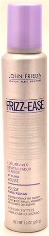 John Frieda Frizz-Ease Curl Reviver Styling Mousse 7.2 oz.