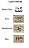 "Set of 10"" Rustic House Numbers or Letters (Set of 2)"