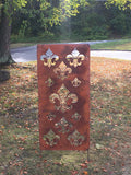 Privacy Screen / Accent Screen Garden Stake or Wall Hanging (Fleur De Lis) Deck Screen