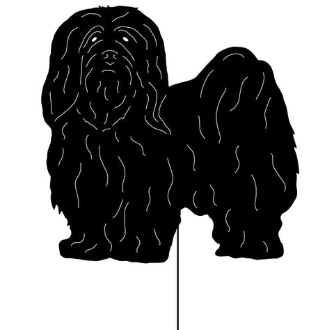 Lhasa Apso Garden Stake or Wall Hanging (Style 2)