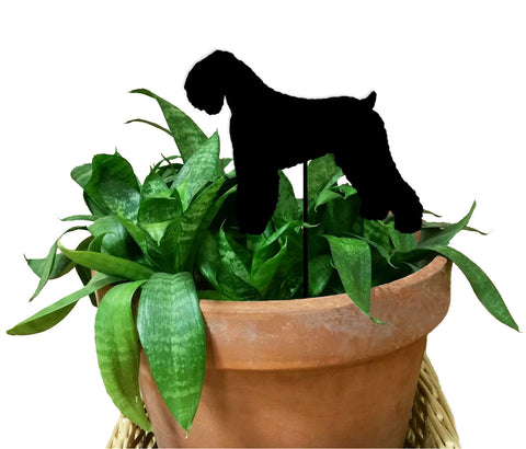 Black Russian Terrier Plant Stake / Pet Memorial