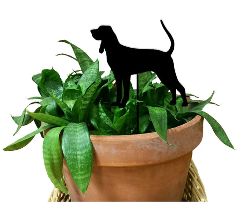 Black and Tan Coonhound Ornament or Plant Stake