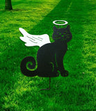 Cat Angel Garden Stake or Wall Hanging / Hand Painted