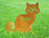 Ziggly Cat with name in body