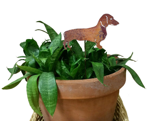 Dachshund Ornament or Plant Stake
