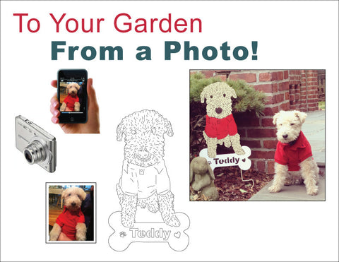 Pet - Garden or Wall Art - From a Photo