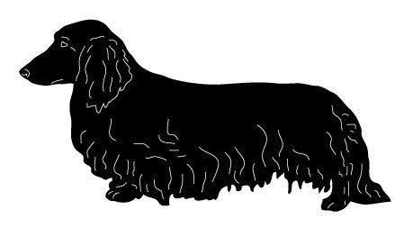 Long-Haired Dachshund Garden Stake or Wall Hanging