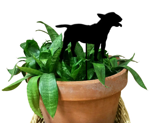 Miniature Bull Terrier Ornament or Plant Stake