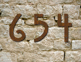 Rustic Mission Style House Numbers or Letters (Set of 1) / 2 Inch up to 8 Inch / Initials / Metal / Wall Hanging / Address / Custom / Office / Pins / Rust
