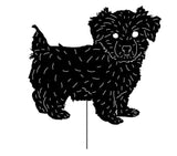 Morkie Garden Stake or Wall Hanging