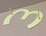 "Set of 12"" House Numbers or Letters (Set of 4) / Address / Metal / Business / Restaurant / Office / Powder Coated"