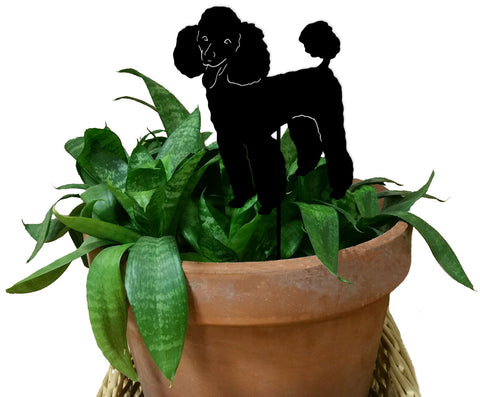 Poodle Ornament or Plant Stake