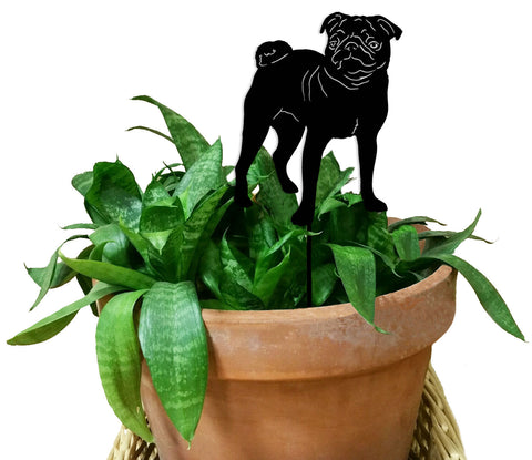 Pug Ornament or Plant Stake