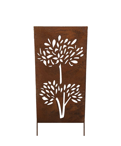 Privacy Screen / Accent Screen / Garden Stake or Wall Hanging (Palm Palm)