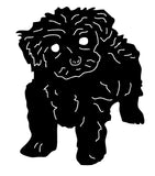 tea cup poodle wall hanging