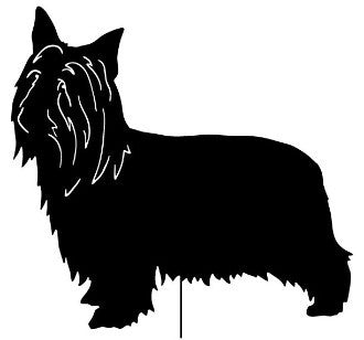 Australian Silky Terrier Garden Stake or Wall Hanging