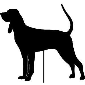 Black and Tan Coonhound Garden Stake