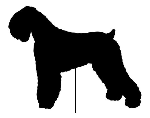 Black Russian Terrier Garden Stake or Wall Hanging