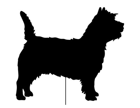 Cairn Terrier Garden Stake or Wall Hanging
