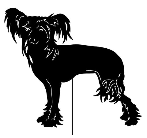 Chinese Crested Dog Garden Stake or Wall Hanging (Style 1)