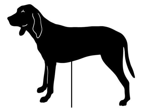 Coonhound Garden Stake or Wall Hanging