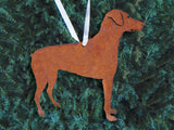 Rustic Doberman Pinscher Christmas Ornament