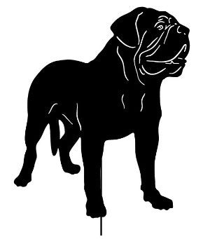 Dogue de Bordeaux Garden Stake or Wall Hanging