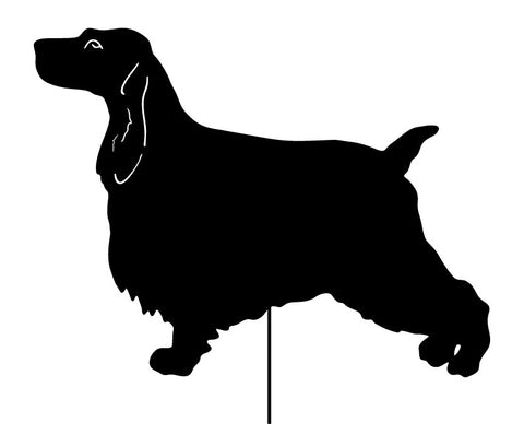 English Cocker Spaniel Garden Stake