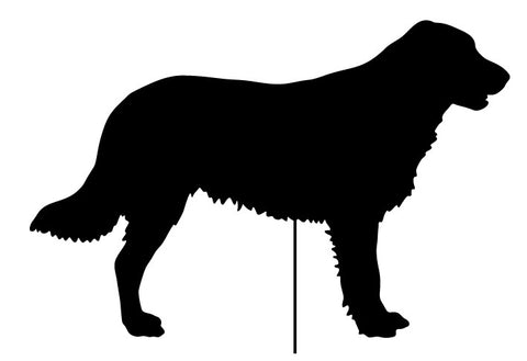 Flat-Coated Retriever Garden Stake or Wall Hanging
