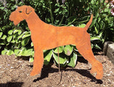 Airedale Terrier Garden Stake Rust